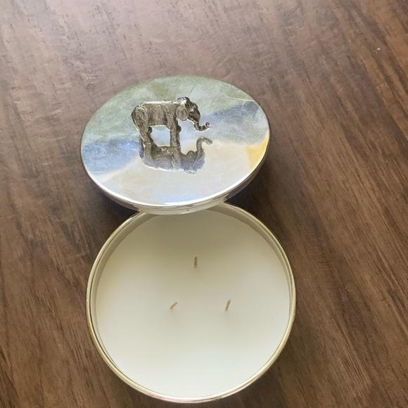 Pottery barn elephant candle pot
